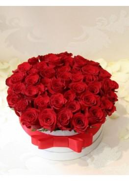 51 красная роз в коробке