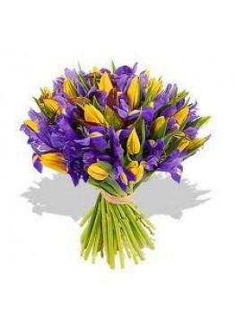 Фиолетово-желтый букет