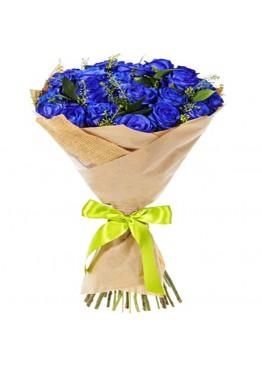 25 синих роз